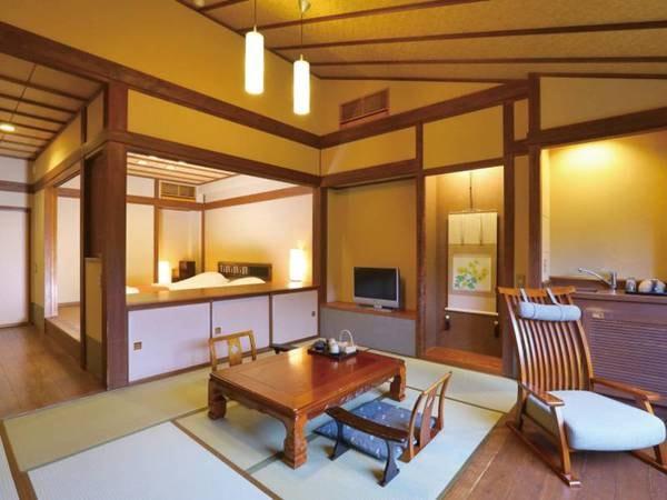 【八幡野・35㎡和洋室】和室6畳+ローベッド2台/例