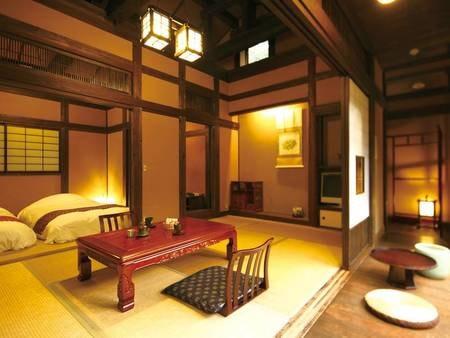 【竹ぶえ・44㎡離れ和室+ツイン】古民家風の懐かしい客室/例