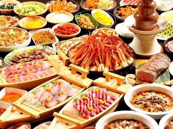 【夕食/例】伊豆の食材や、季節のお刺身・天麩羅など集めたグルメバイキング