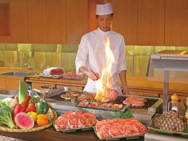 【夕食/例】鉄板焼きステーキ