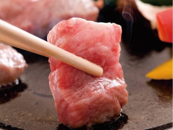 【夕食/例】選べる一品「和牛の石焼き」選択時