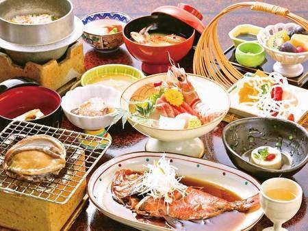 【選べるメイン・伊勢海老・舟盛/例】自慢の料理をお部屋食で味わう