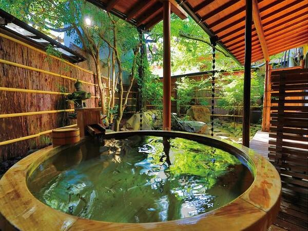 【石庭和室(温泉露天風呂付)/例】源泉かけ流し露天風呂付客室
