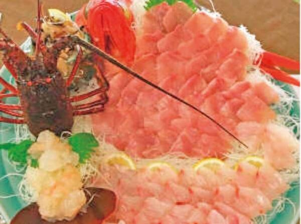 伊勢海老豪華プラン!1人1本伊勢海老刺身と舟盛り付の夕食一例