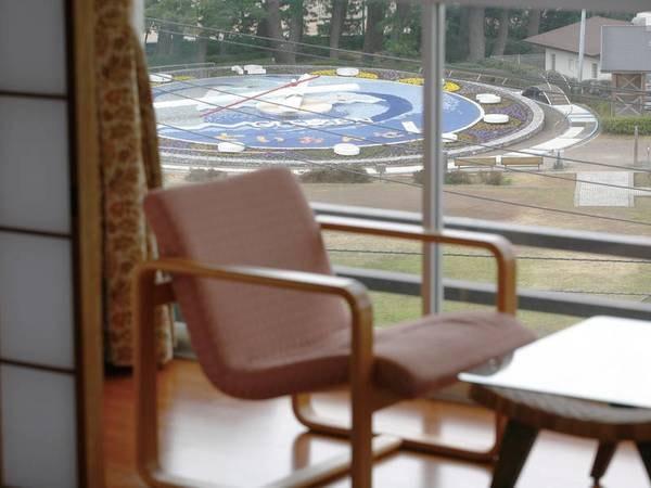 【客室/イメージ】全客室から花時計をご覧いただけます