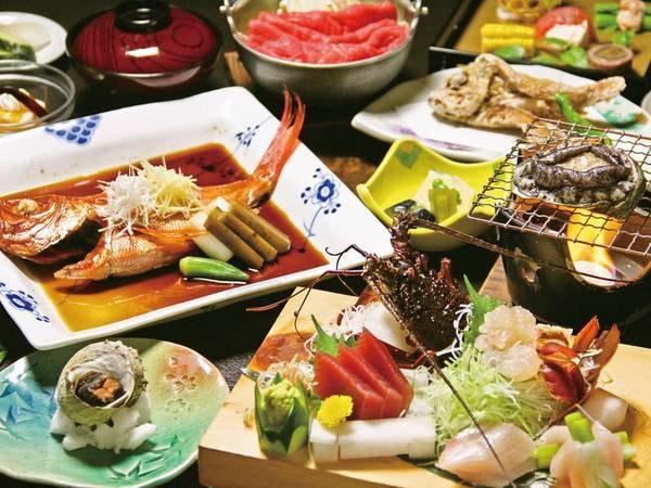【海の5大味覚が姿盛り/例】豪快海鮮が余すところなく食せる特別企画