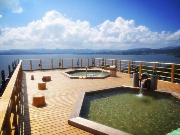 【舘山寺サゴーロイヤルホテル】地上40mより浜名湖を一望する展望露天風呂。うなぎも食べ放題!1品1品丁寧に作られる夕食バイキングも好評♪