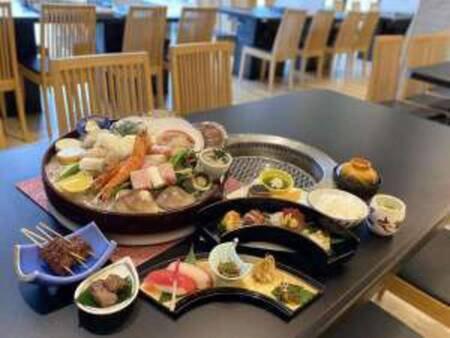 【海鮮グリルと個々盛り会席料理/例】