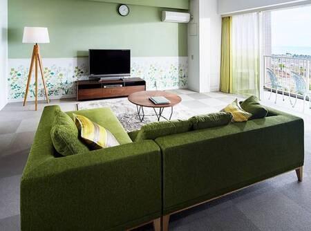 【リニューアルスイート(ガーデングリーンスイート)/例】リビング※お部屋は4タイプよりお任せとなります