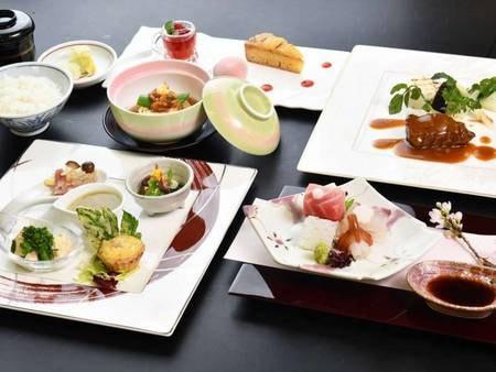 【和洋折衷コース「結(むすび)」/例】繊細な和食と華やかなフレンチ、いいとこ取りな和洋折衷コース