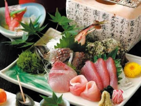 【贅づくしプラン/例】新鮮な地魚のお造りは日替わり