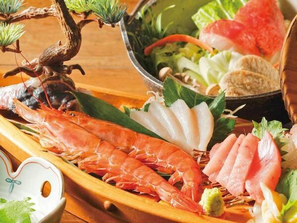 《美味少量》金目鯛鍋・舟盛付プラン一例