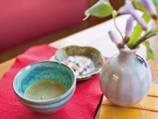 【サービス】イン時に抹茶とお茶菓子でおもてなし