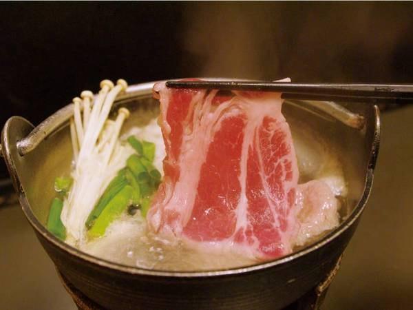 【しゃぶしゃぶorすき焼きプラン/例】予約時上州牛の「しゃぶしゃぶ」または「すき焼き」から選択可能