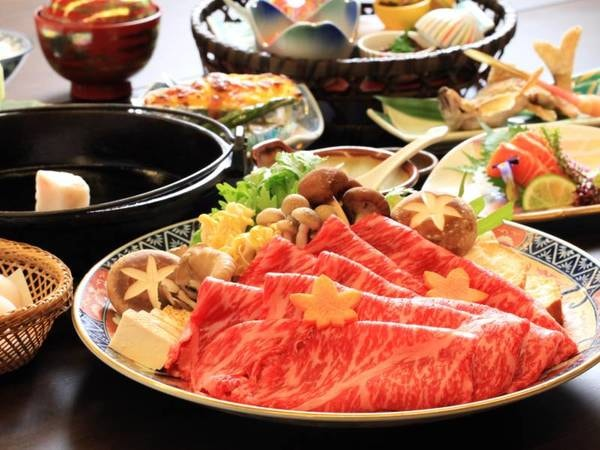 上州和牛すき焼きプラン一例/上州和牛150グラムと料理長手作りの割り下が絶品!