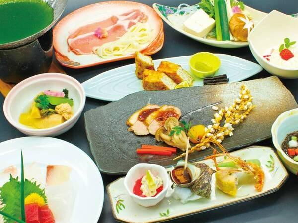 【旬の地産会席/例】地元の食材をふんだんに使用した季節の和会席