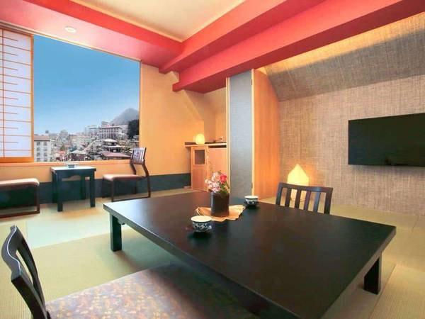 最上階ヒノキの展望風呂付客室/一例