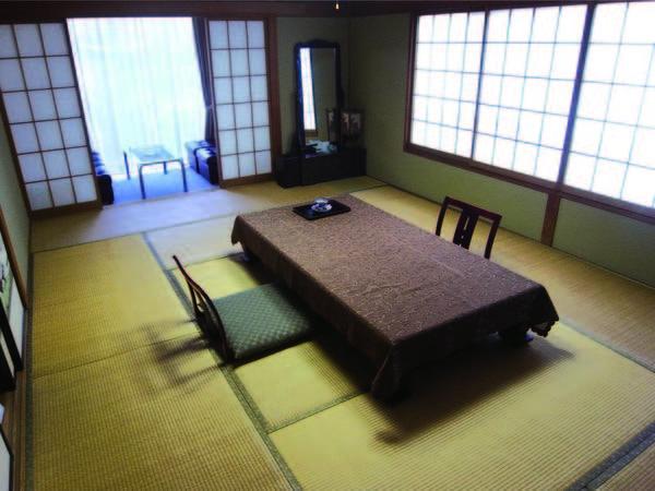 【客室/例】バス・トイレ付の12畳和室を確約