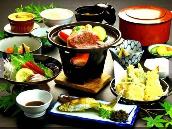【グレードアップ料理一例】旬の地元食材を中心とした贅沢グレードアップ料理一例です