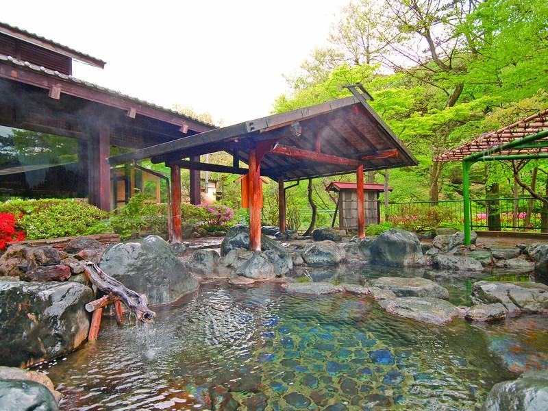 【露天風呂/夏】四季折々に違う景色を満喫!大自然の中で心ゆくまで湯浴みを