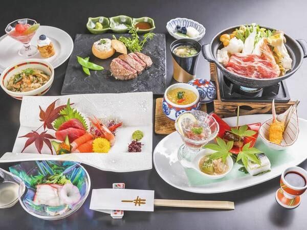 【和洋会席/例】メインを肉か魚か当日個人毎選択