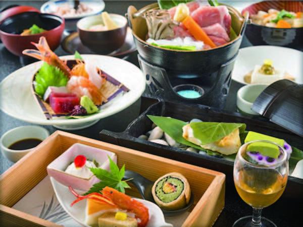 【陶板牛ステーキと選べるお鍋/例】お鍋は鶏コラーゲン鍋または豚の味噌仕立て鍋より選択