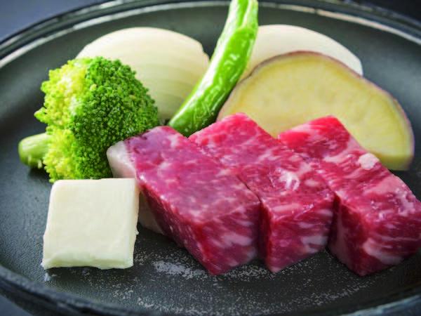 【陶板牛ステーキ/例】食事内容をグレードアップ