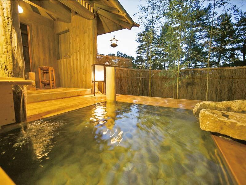貸切風呂【竹座】3種ある貸切風呂は空いていれば無料で利用可能