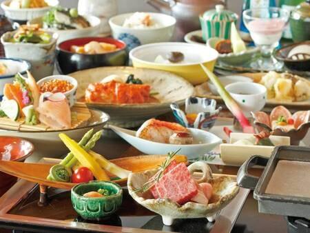 【選べる和会席/例】メインを「お肉」「魚」から選べる和会席料理に舌が踊る