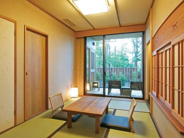 【露天風呂付客室・和洋室/例】ツインベッド+和室