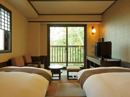【和室/例】21.6㎡のお部屋に幅100cmの和ベッドもしくはマットレスを設置