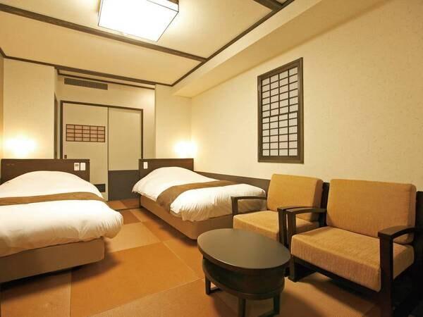 【最上階和室/例】21.6㎡のお部屋に幅100cmの和ベッドもしくはマットレスを設置