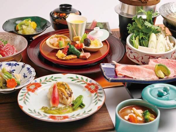 彩会席/例 上州麦豚など群馬の恵みを使った会席料理。手軽でシンプル!