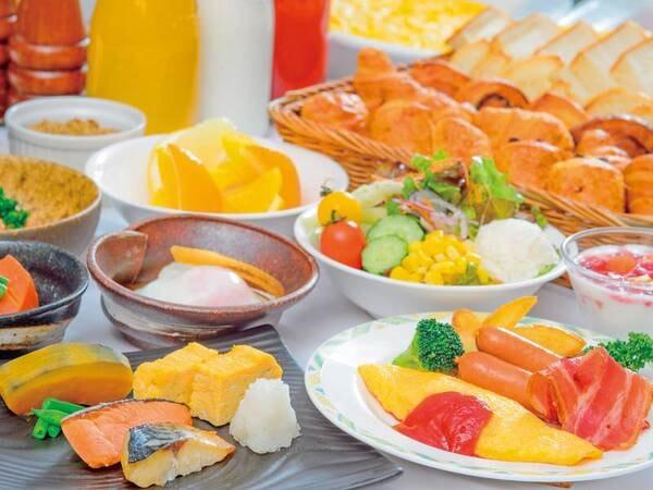 【朝食/例】地元の新鮮な高原野菜はじめ、バラエティに富んだバイキング