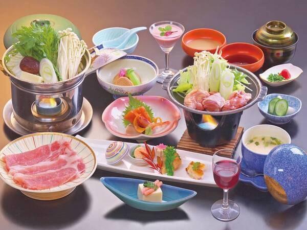 【平日限定会席/例】地元食材にこだわり、豚しゃぶをメインにした和会席に舌鼓