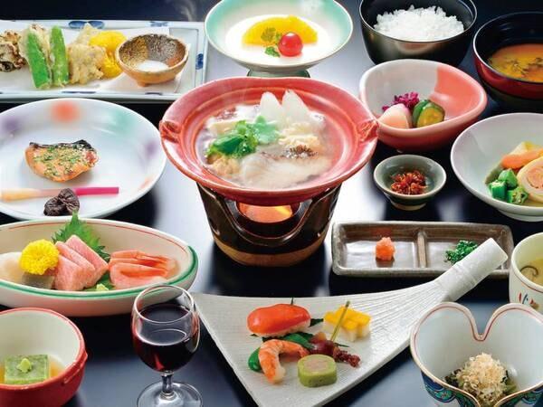 【京風懐石/例】おいしさにこだわる手作り京風懐石をお部屋食で