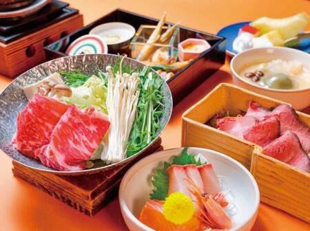 上州牛のすき鍋とローストビーフ/例
