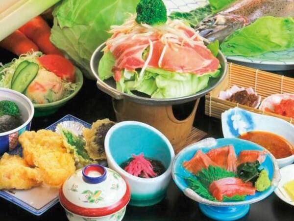 【和会席/一例】嬬恋高原キャベツと上州もち豚陶板焼きがメインの会席(メニューは変更の場合あり)