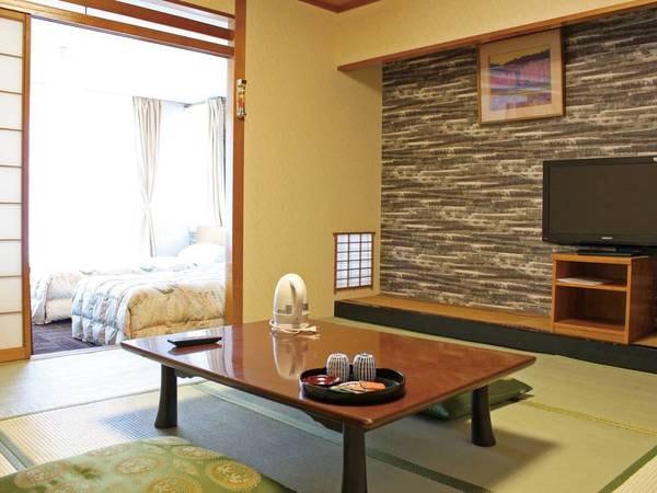 【和洋室/例】畳とツインベッドの和洋折衷のお部屋