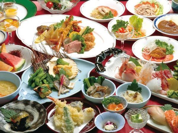 【年末年始・GWなど日程限定バイキング/例】実演で揚げたての天ぷらや寿司など約60種