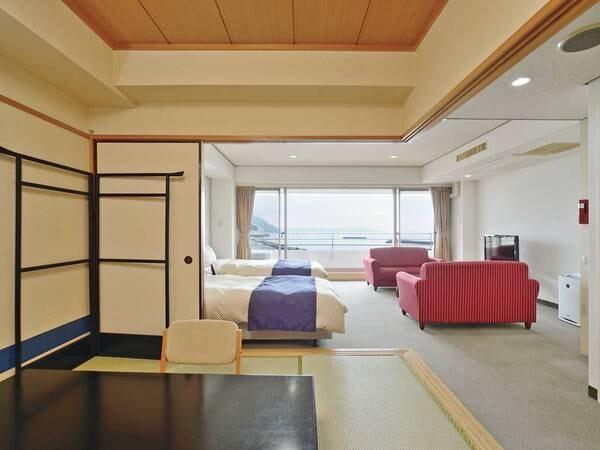 【和洋室/例】ツインベッド+和室6畳+ソファーセットの和洋室をご用意
