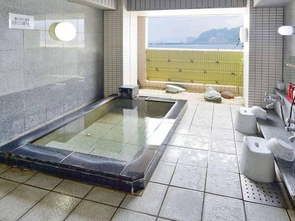 【半露天風呂】熱海の風景を楽しむ