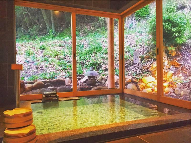 【貸切風呂】飲泉も可能な美人湯で湯上りのお肌はツルツルに