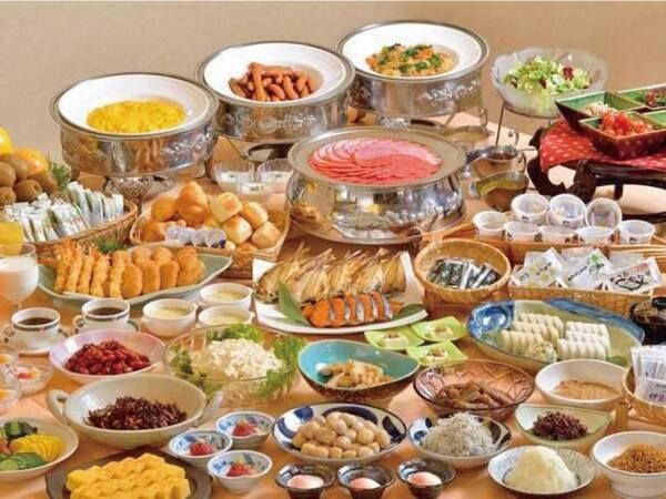 【朝食/例】良質な源泉を使った朝食バイキング♪(和食膳になる場合あり)