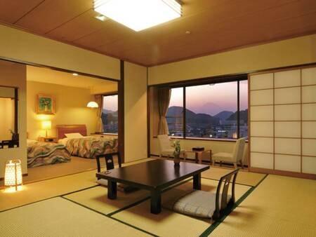 【和洋室/例】人気の約54平米の広々和洋室(10畳+ツイン)
