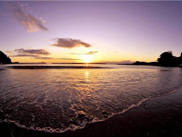 【眺望/例】駿河湾越しに沈む夕日は一見の価値あり!