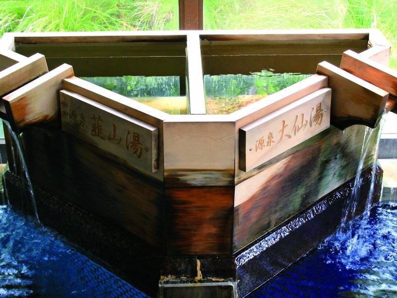 【源泉】韮山湯・大仙湯の2種の源泉
