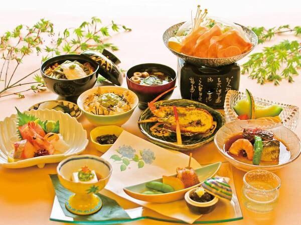 【夏の月見草会席/例】名物料理のロブスターグリルを堪能
