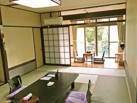 【1階和室10畳/例】和室10畳+広縁付。1階のお部屋確約で、お風呂や食事会場への移動が楽々!
