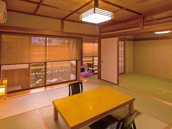 【温泉付客室/例】二間のお部屋に縁側がついた広めのお部屋